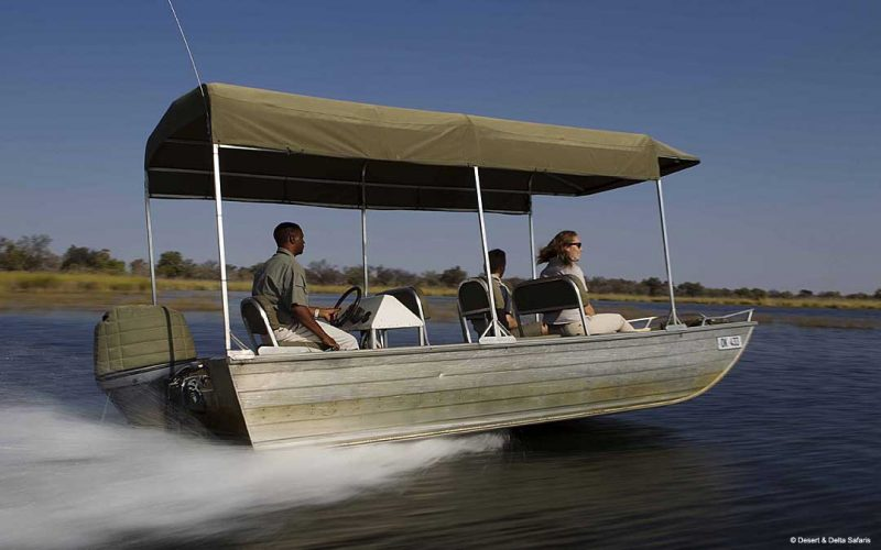 Okavango delta boat ride