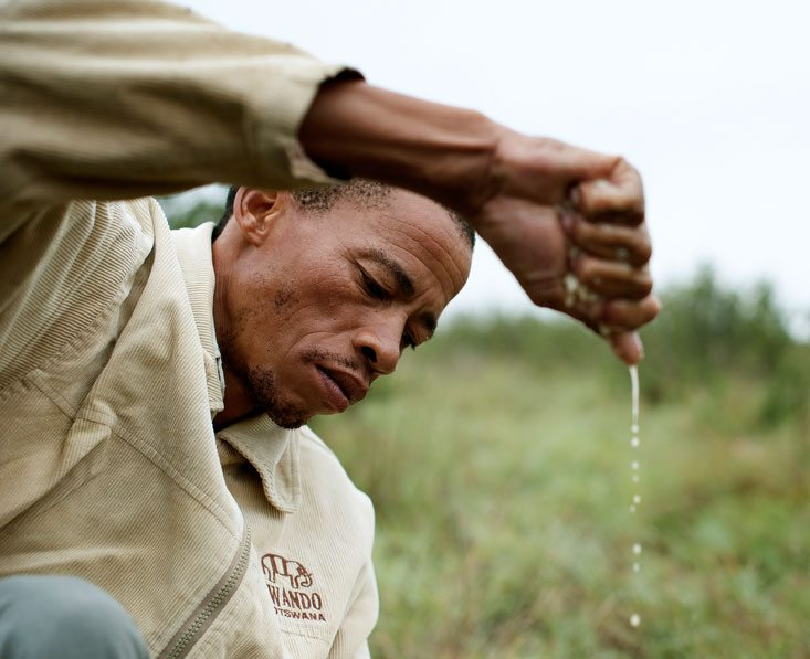 san bushman water demonstration