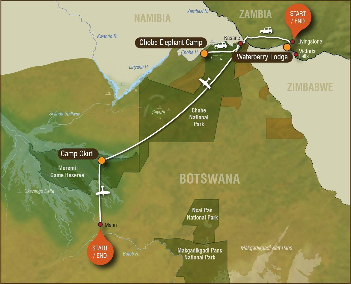 Botswana-family-safari-map
