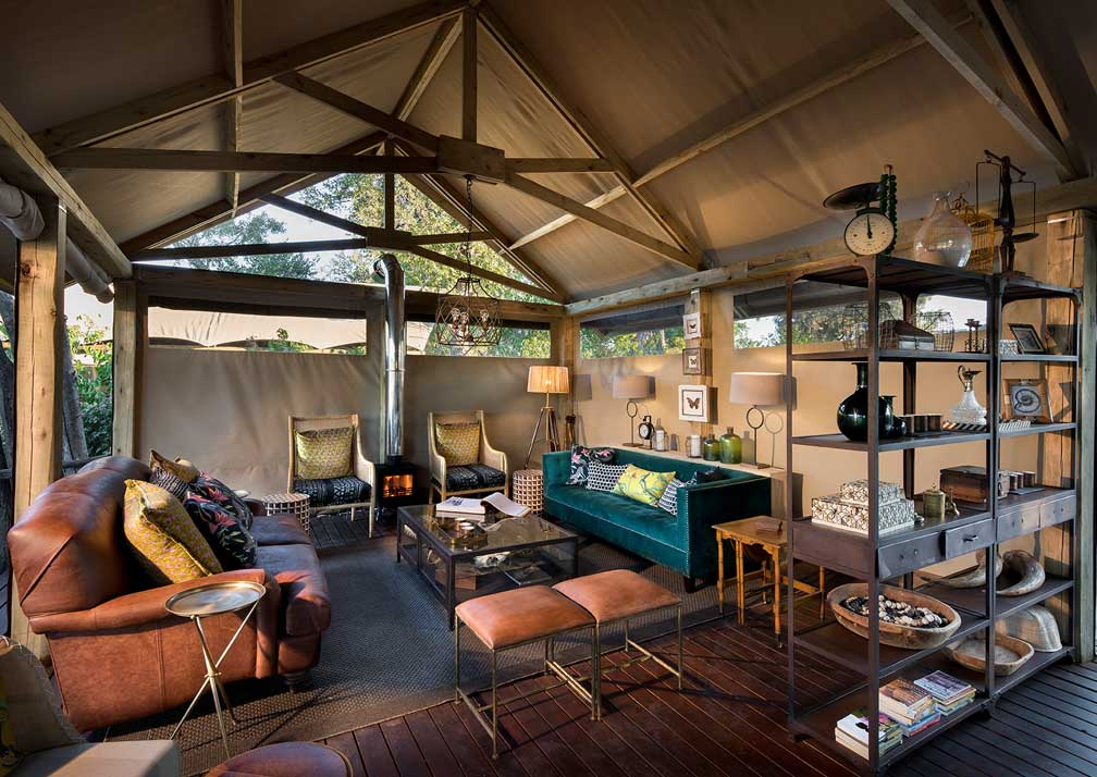 Khwai Tented Camp lounge