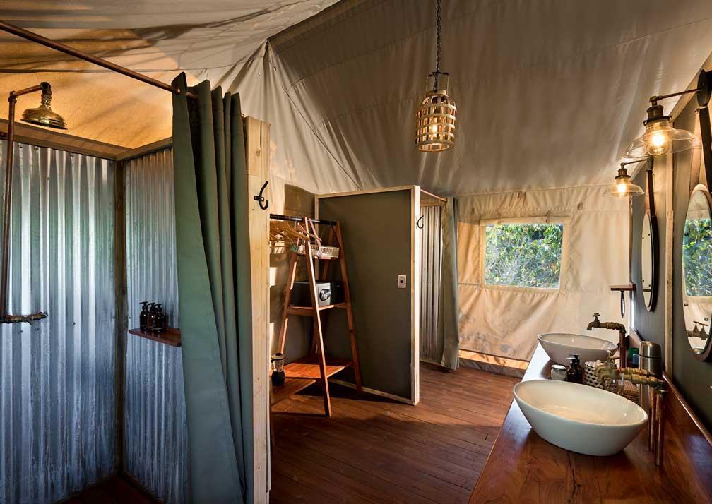 Bathroom at Khwai Tented Camp