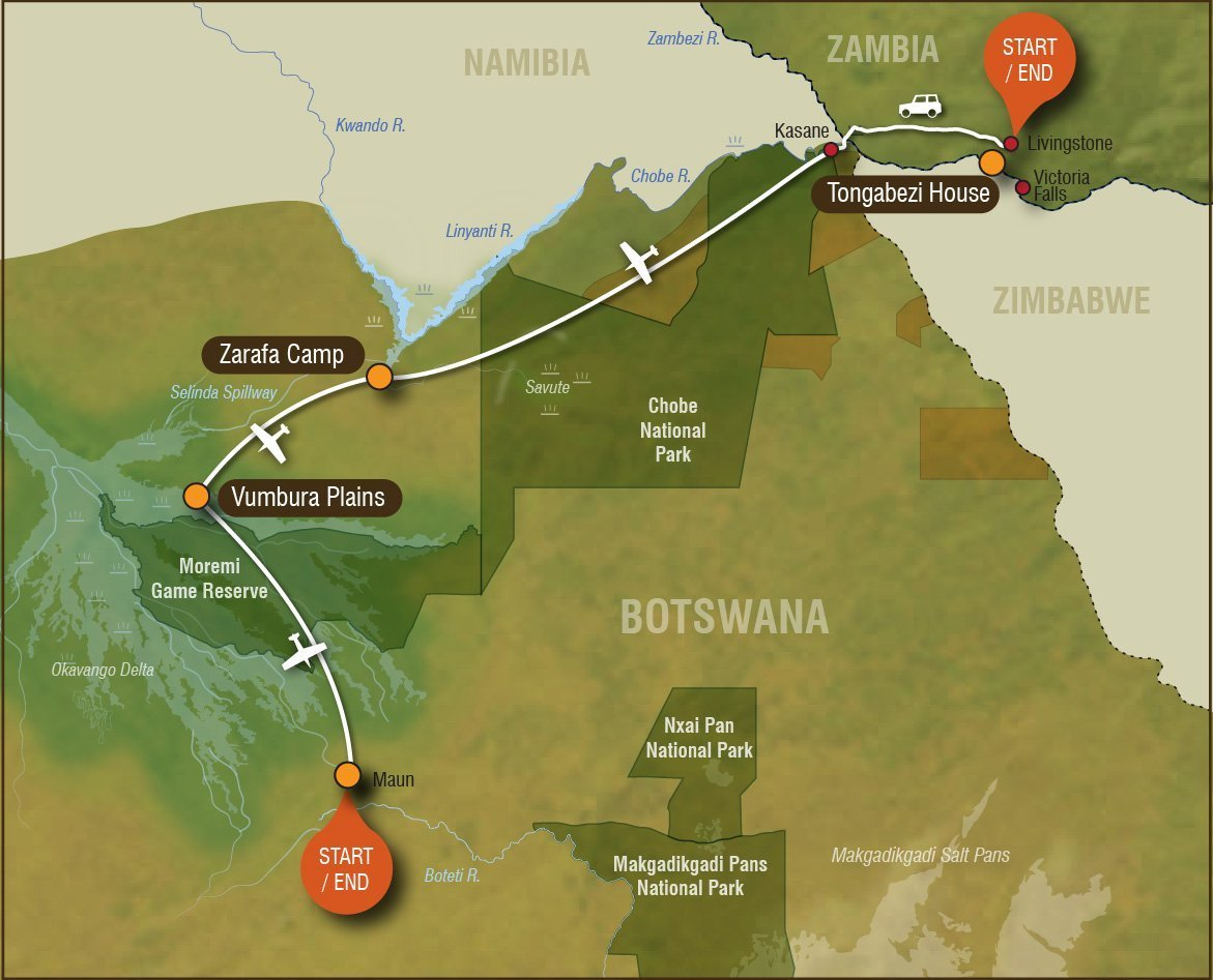 Ultimate-Botswana-Falls map