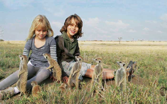 children with Meerkats