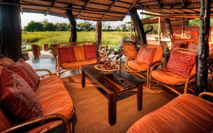 The lounge at Oddballs Camp