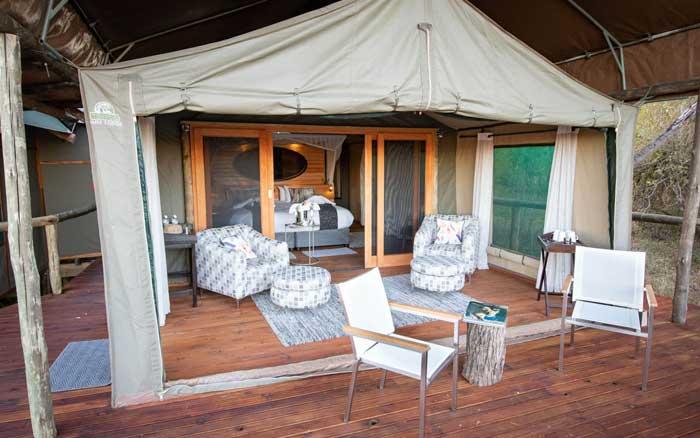 Mma Dinare tent deck