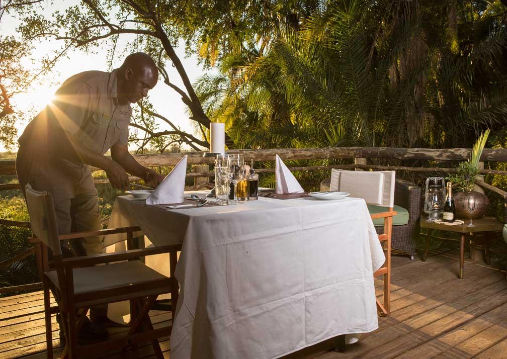 Private dining at Setari Camp