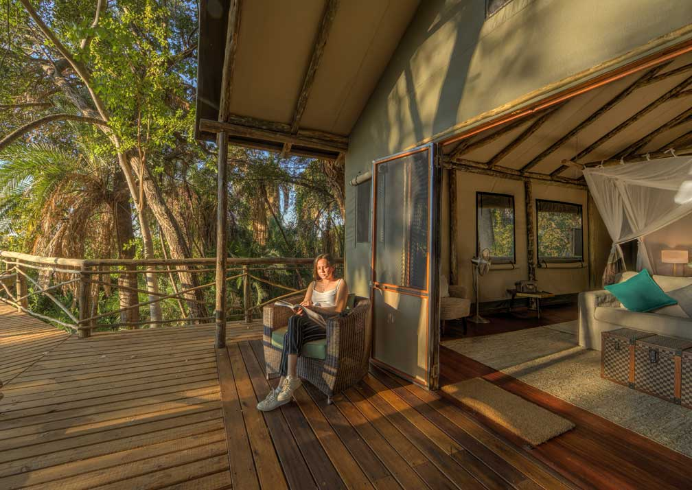 Setari Camp private deck
