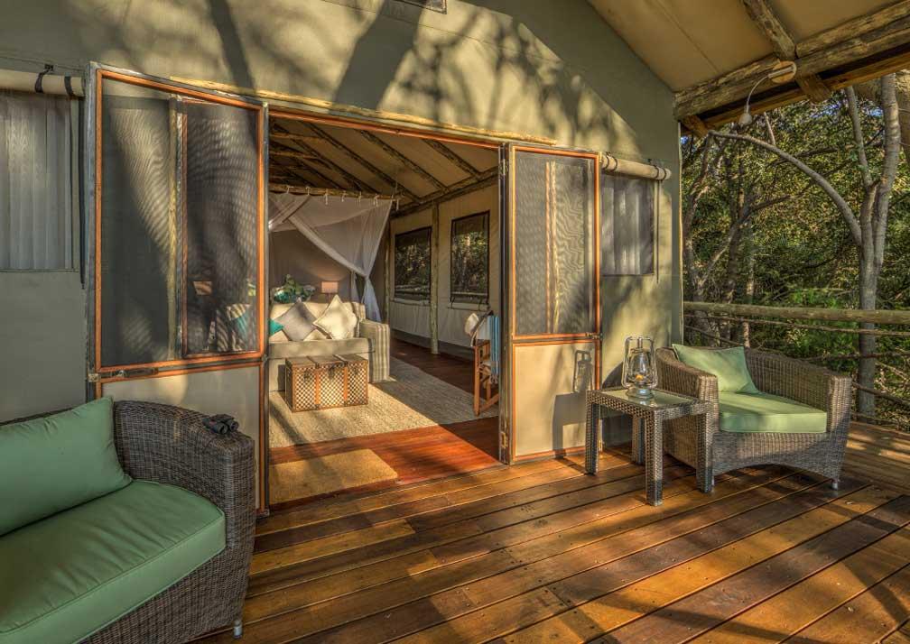 Setari Camp  tent and deck