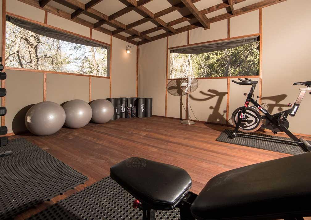 The gym at Setari Camp