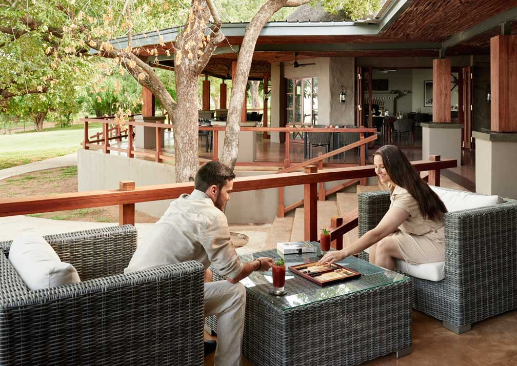 Sanctuary Chobe Chilwero outdoor seating