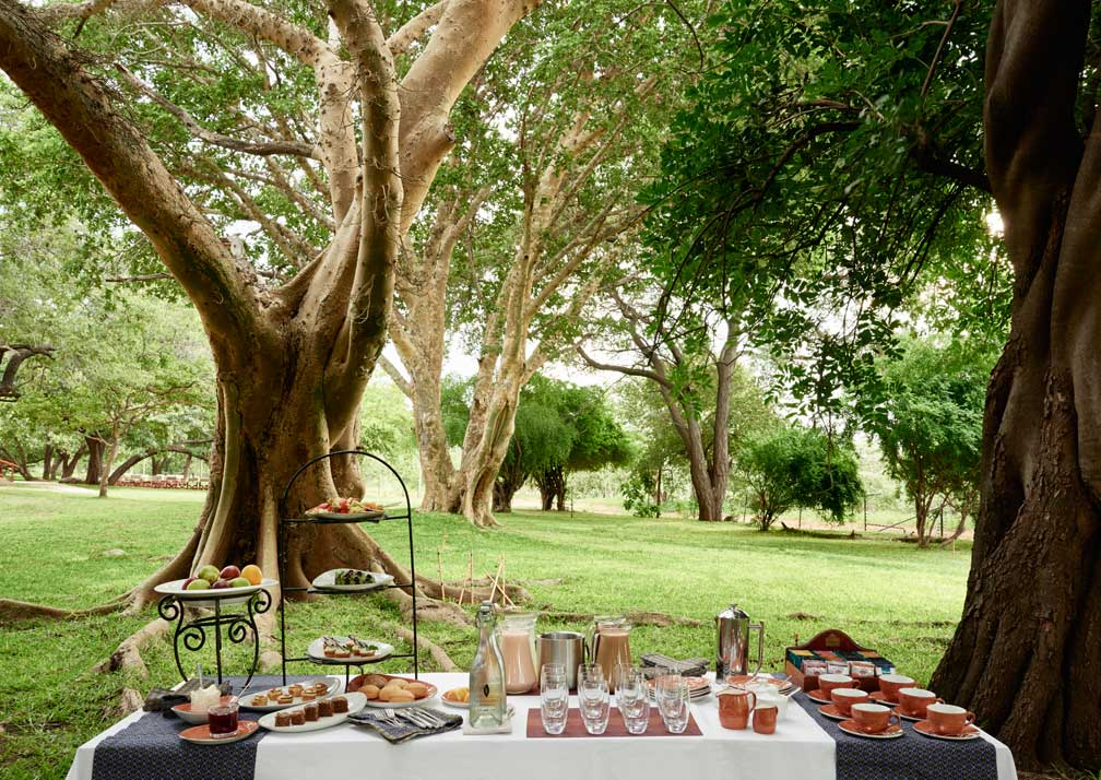 Sanctuary Chobe Chilwero outdoor dining
