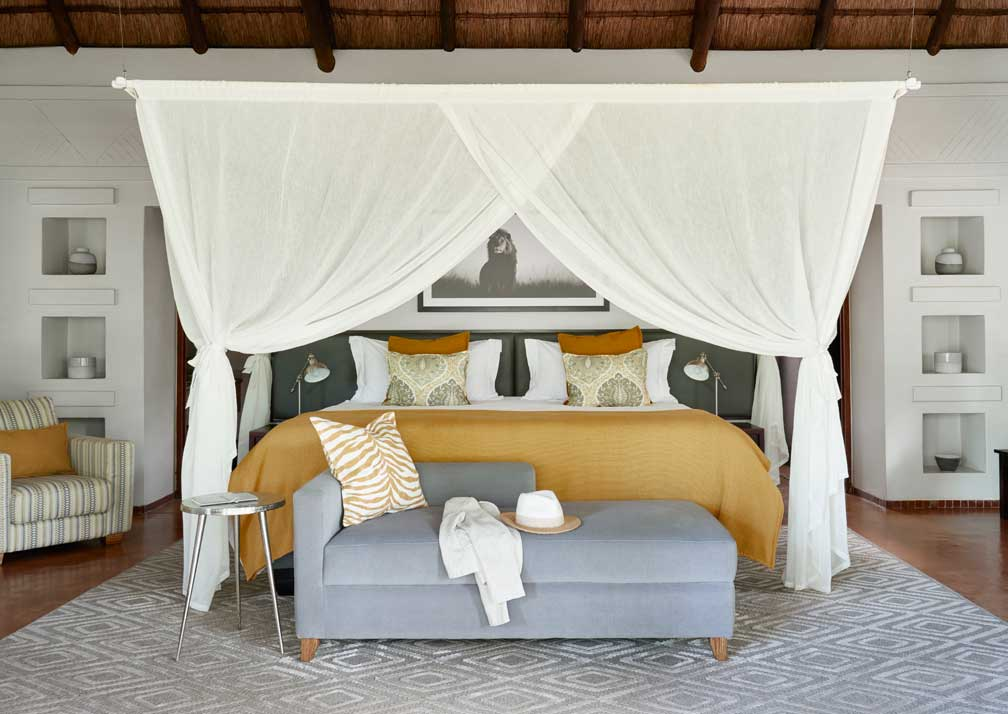 Sanctuary Chobe Chilwero luxury suite bedroom