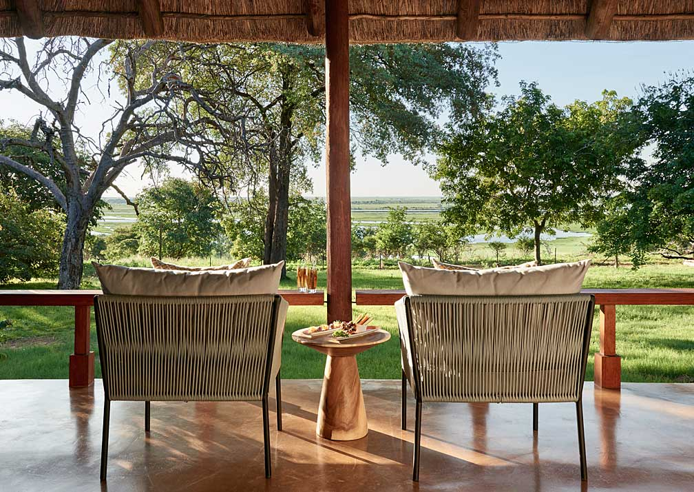 Sanctuary Chobe Chilwero luxury suite seating