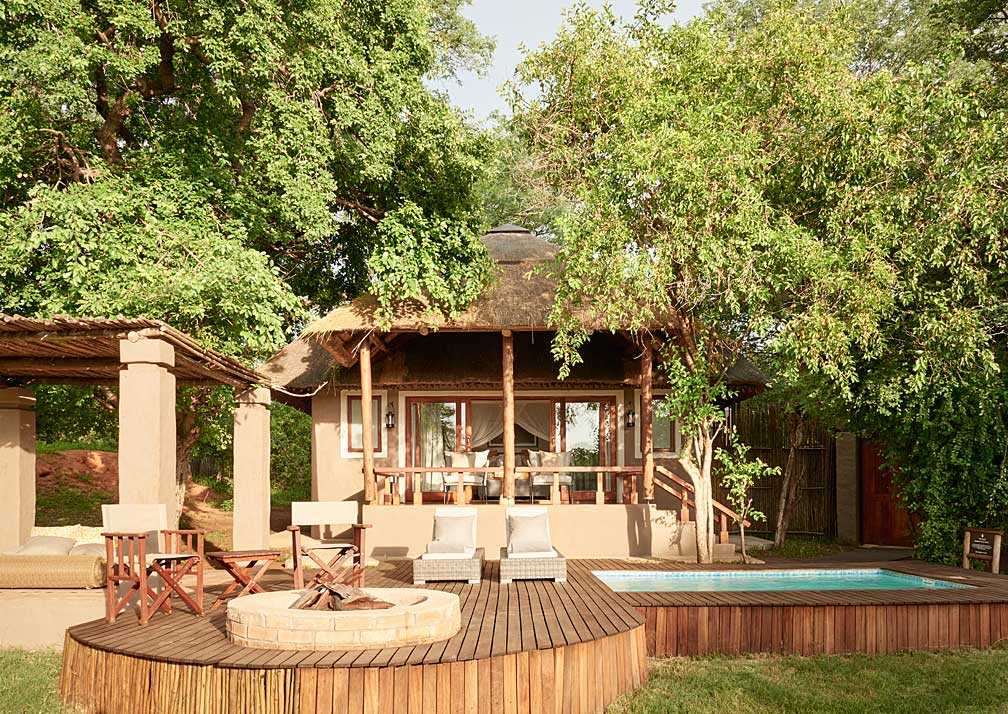 Sanctuary Chobe Chilwero pool suite exterior
