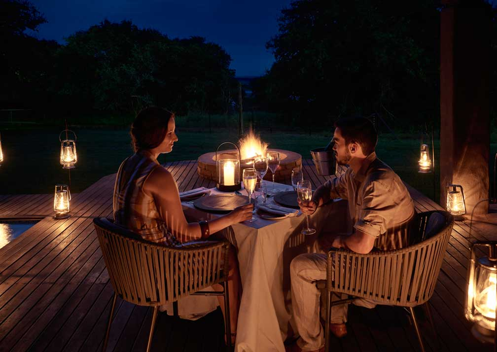 Sanctuary Chobe Chilwero pool suite dining