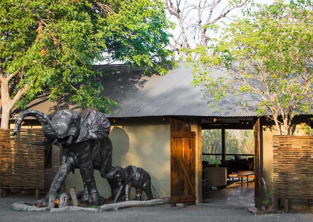 Chobe Elephant Camp entrance