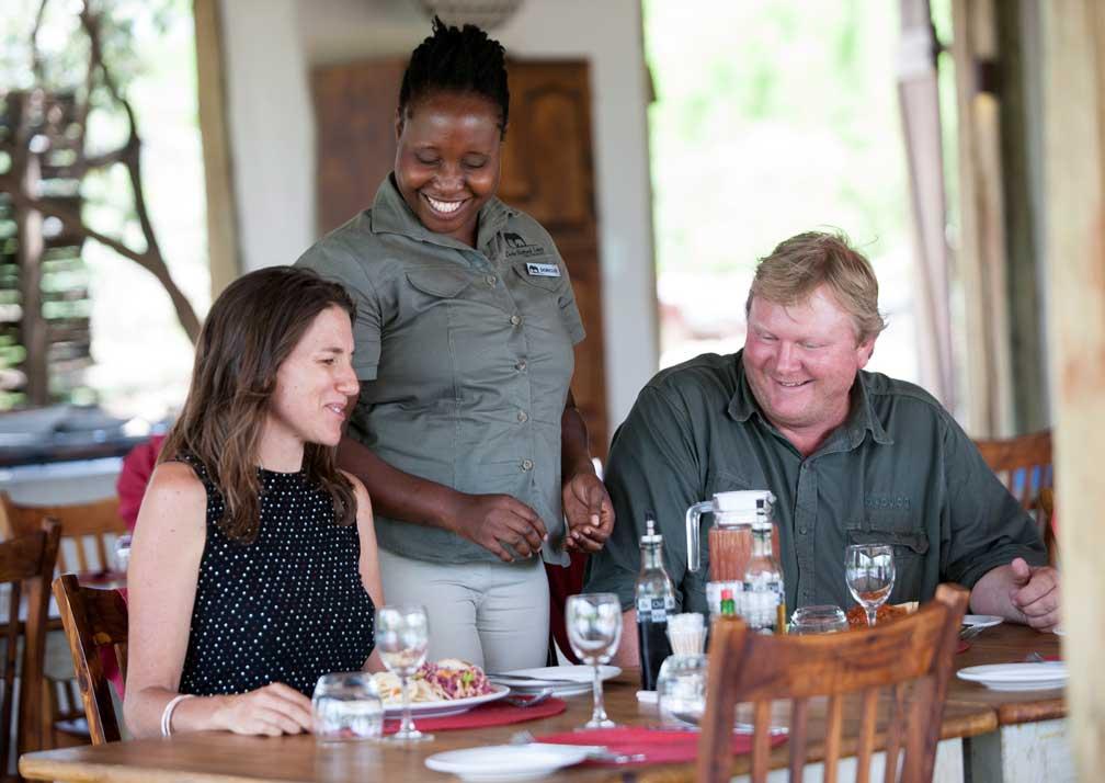 Chobe Elephant Camp dining room
