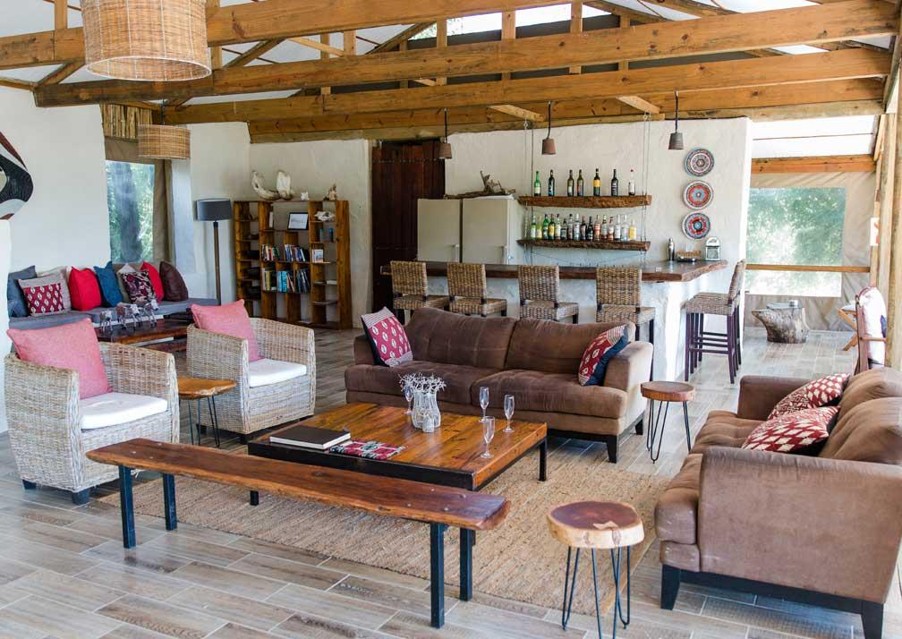 Chobe Elephant Camp lounge