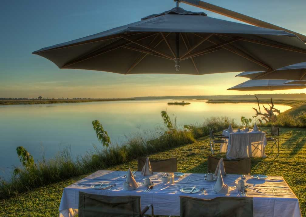 Chobe Game Lodge outdoor dining