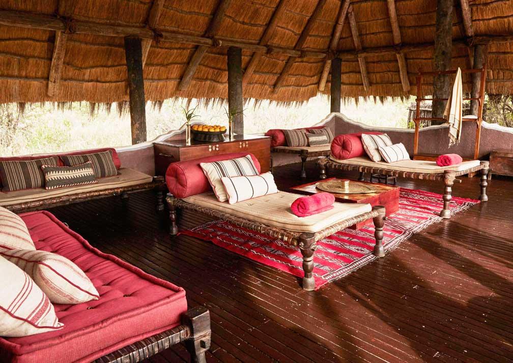 Camp Kalahari lounge