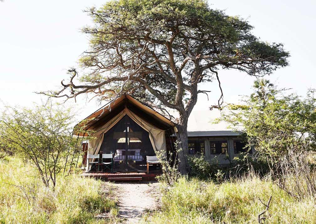 Camp Kalahari tent exterior