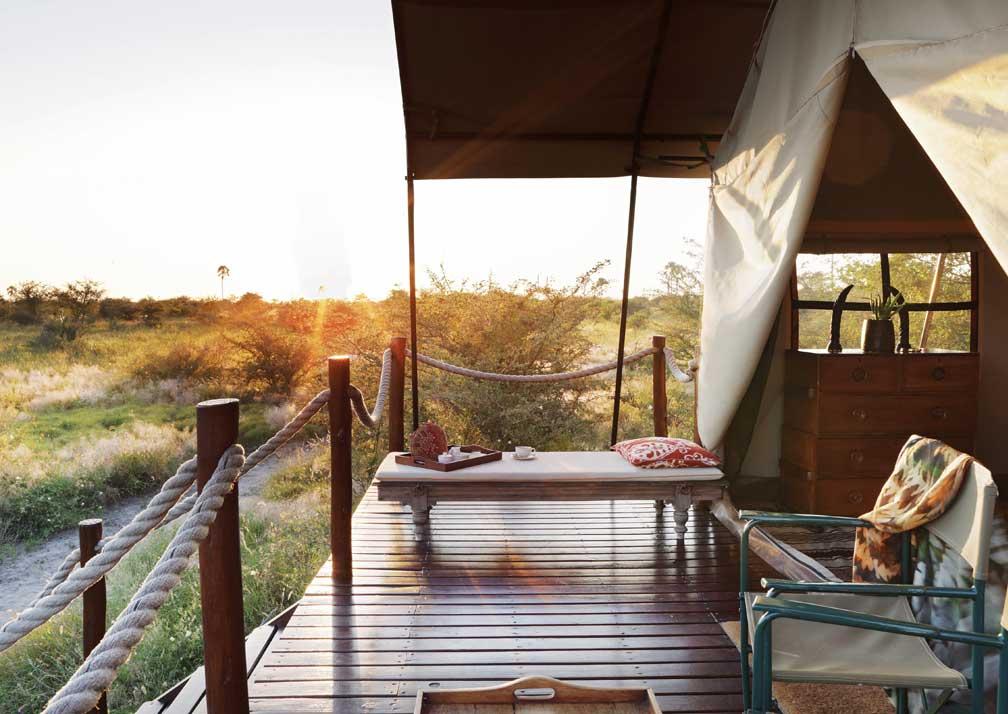 Camp Kalahari veranda