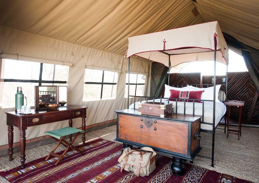 Camp Kalahari tent interior
