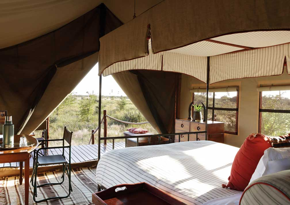 Camp Kalahari bedroom