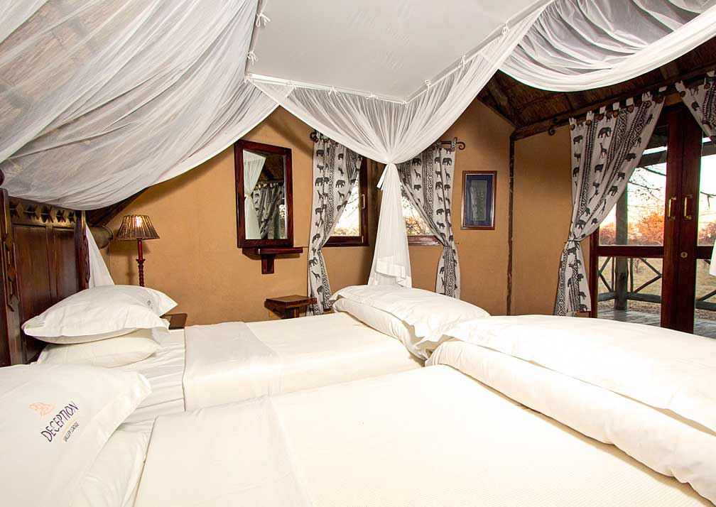Deception Valley Lodge double bedroom
