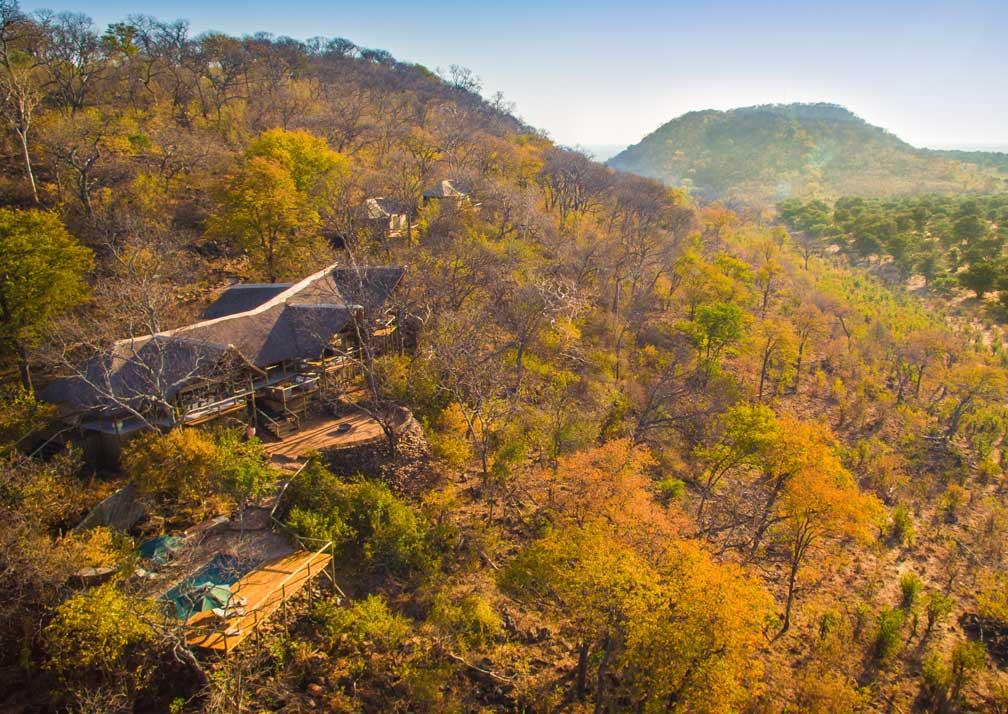 Ghoha Hills Savuti Lodge aerial view