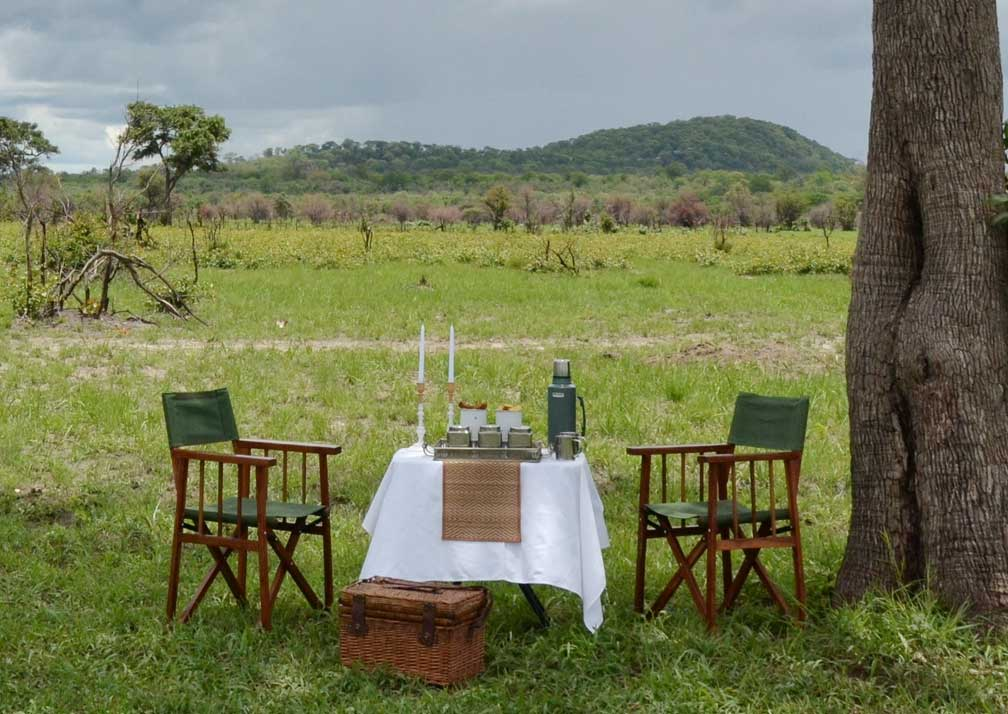 Ghoha Hills Savuti Lodge outdoor dining