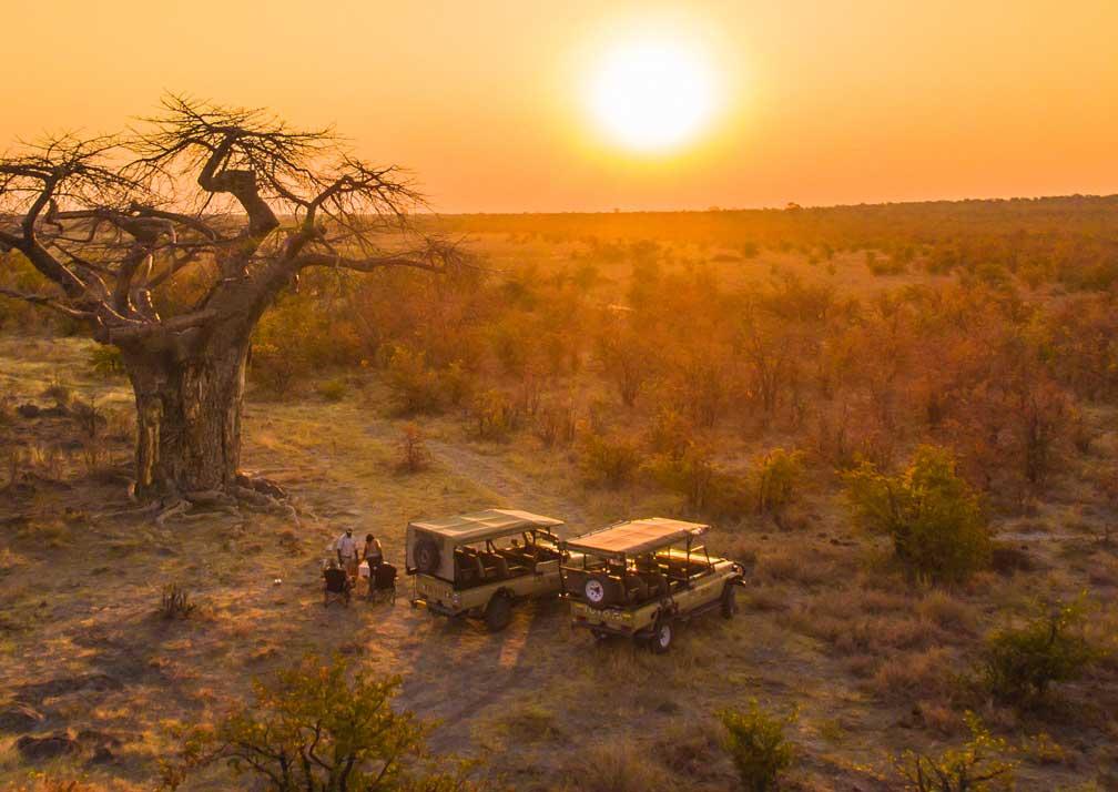 Ghoha Hills Savuti Lodge safari sunset
