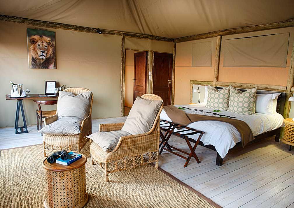 Ghoha Hills Savuti Lodge bedroom