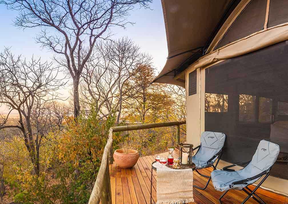 Ghoha Hills Savuti Lodge veranda