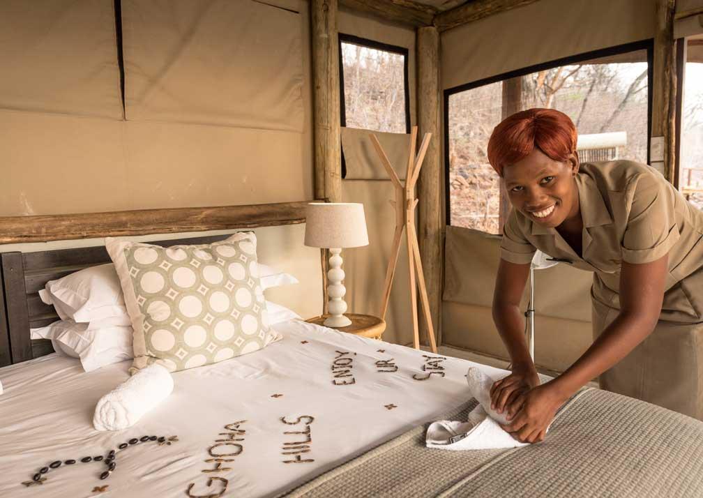 Ghoha Hills Savuti Lodge maid