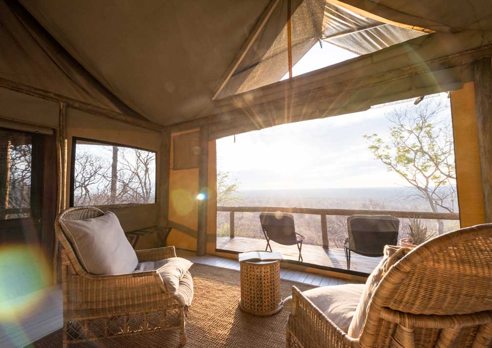 Ghoha Hills Savuti Lodge lounge