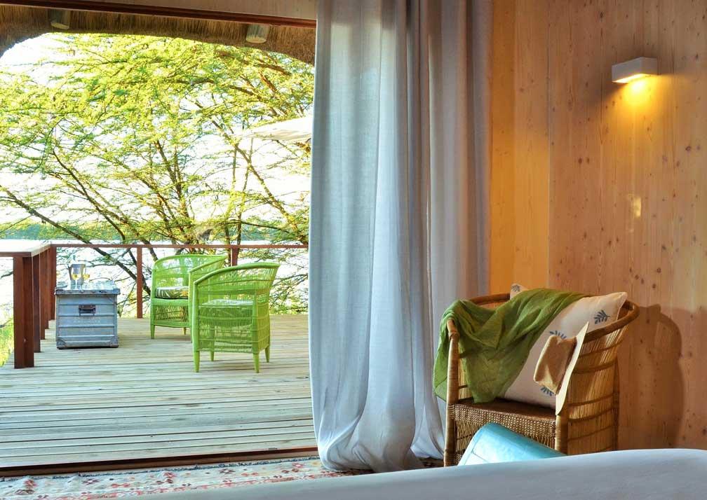 Chobe Bakwena Lodge honeymoon suite veranda