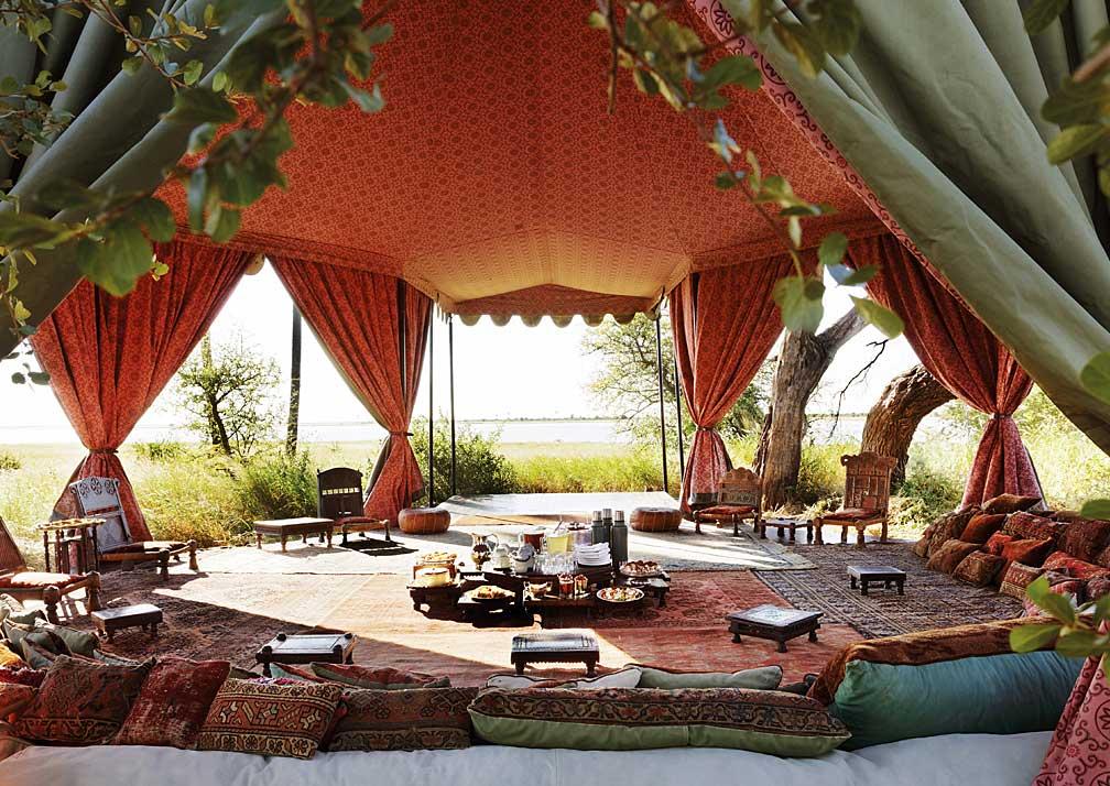 Jack's Camp sheltered dining area