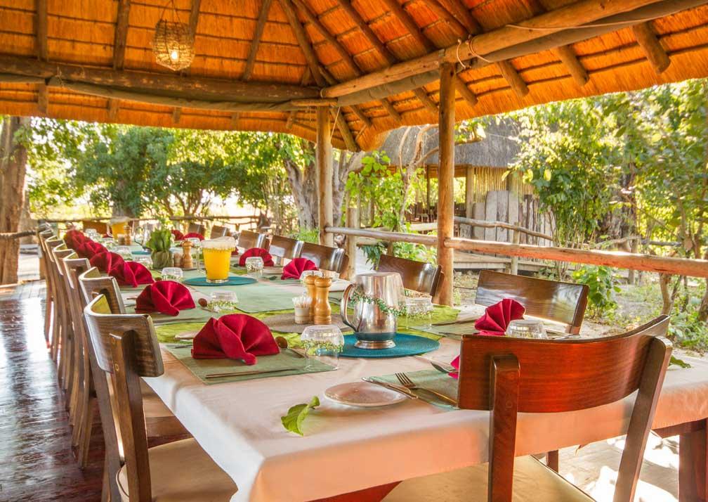 Lebala Camp dining area