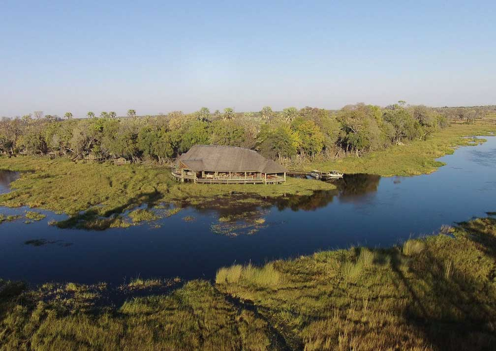 Moremi crossing aerial view