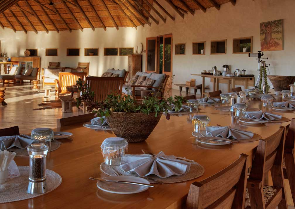 Nxai Pan Camp dining area