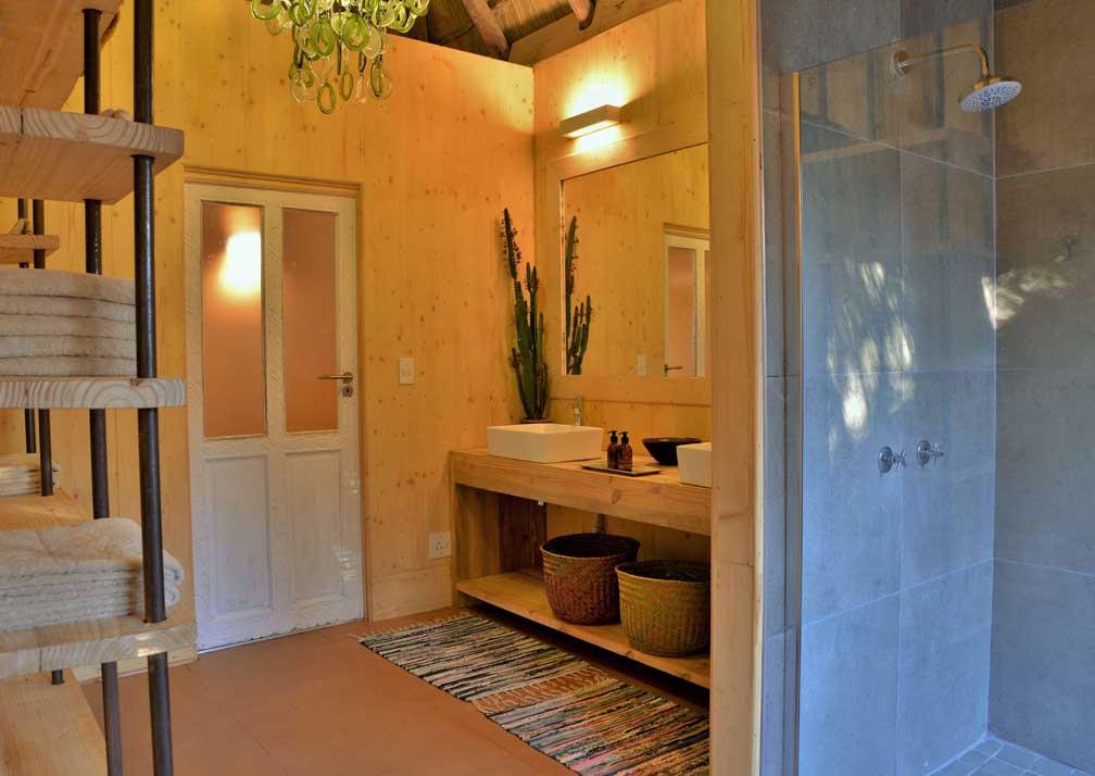 Chobe Bakwena Lodge treetop bathroom