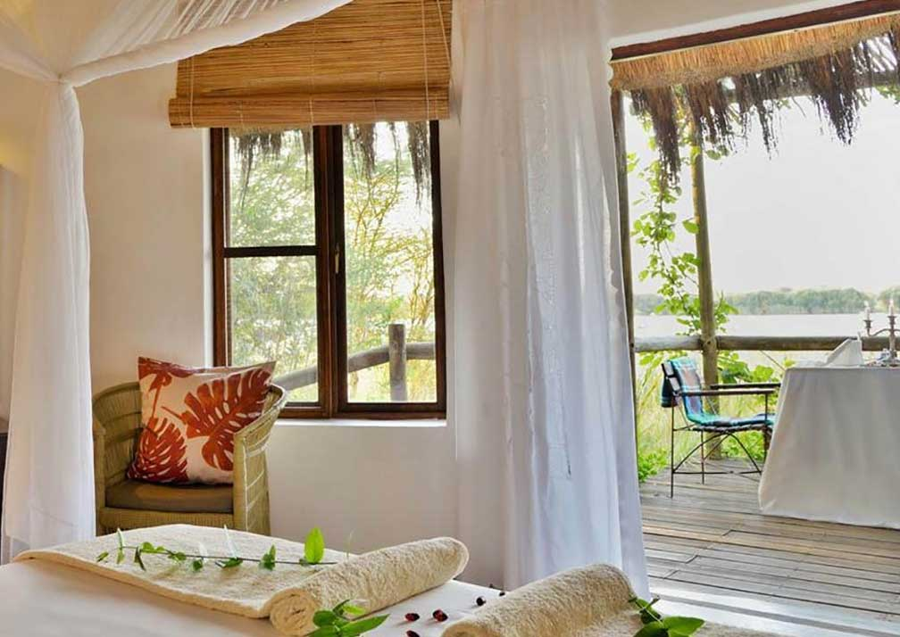 Chobe Bakwena Lodge family room interior