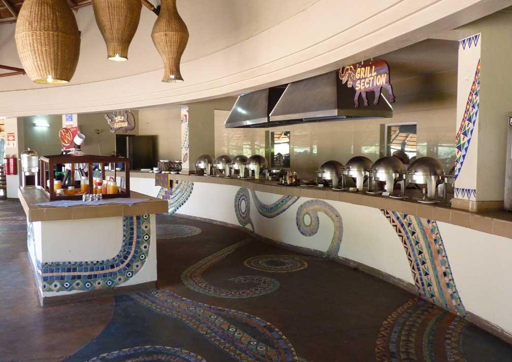 A'Zambezi River Lodge dining room