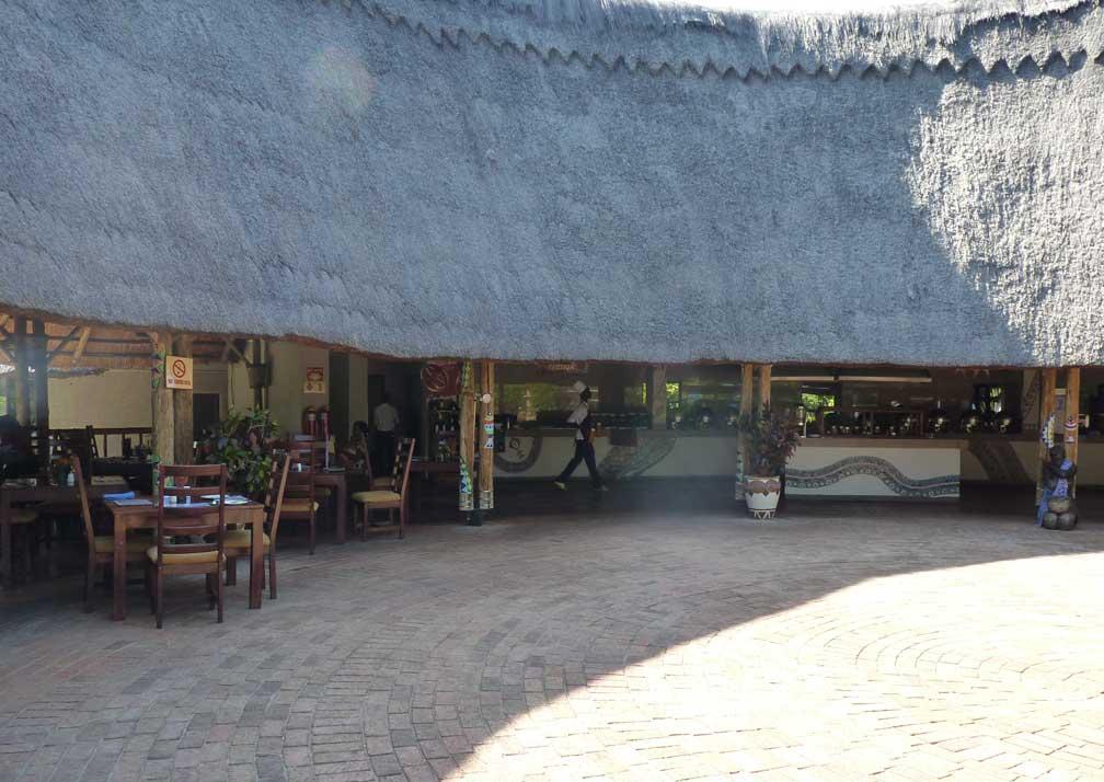 A'Zambezi River Lodge courtyard