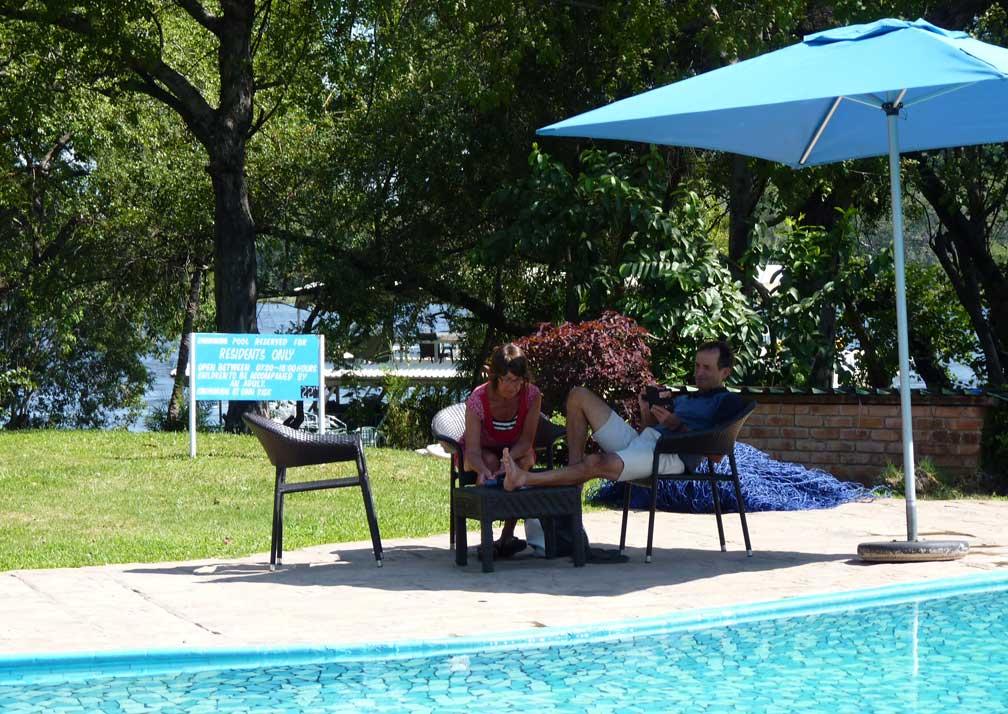 A'Zambezi River Lodge pool