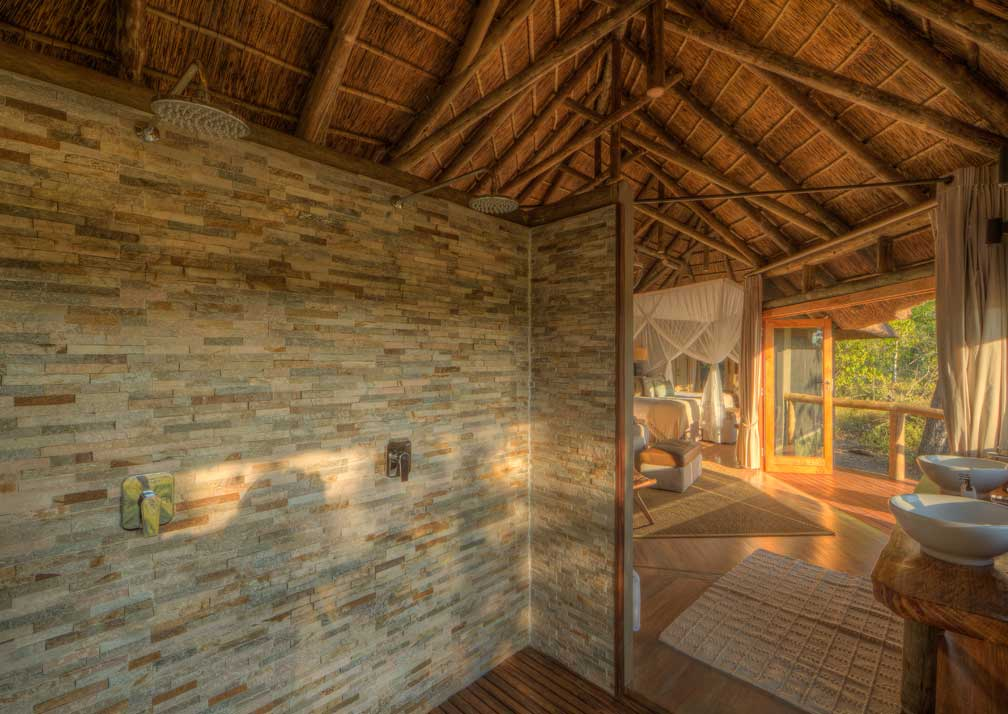 Camp Moremi showers