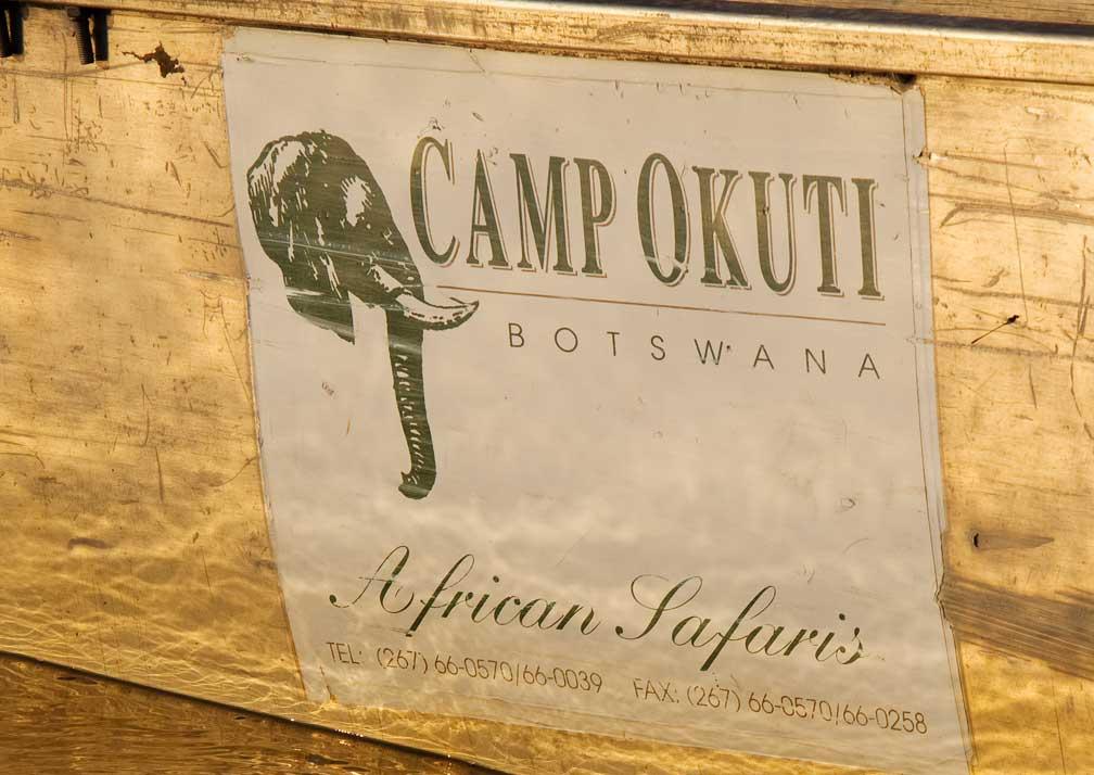 Camp Okuti sign