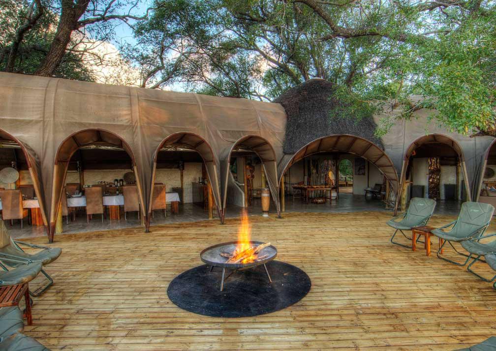 Camp Okuti courtyard