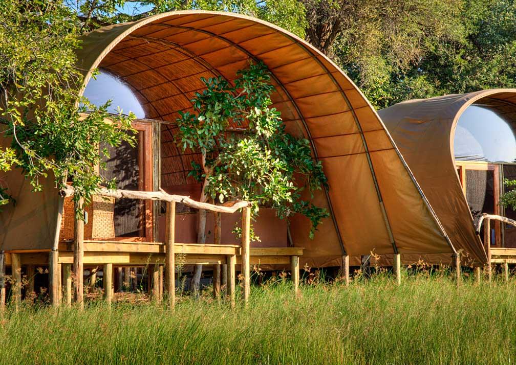 Camp Okuti cabin exterior